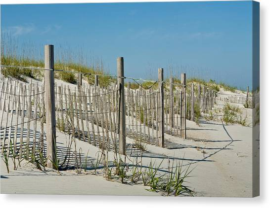 Snow Fence Canvas Print
