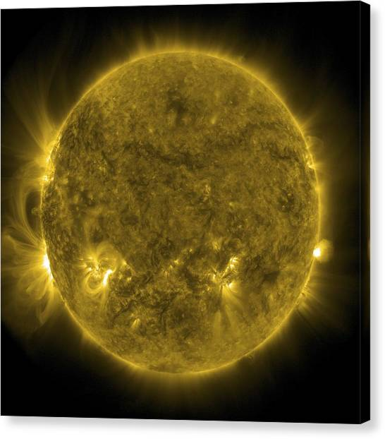 23 Canvas Print - Solar Activity, Sdo Ultraviolet Image by Science Photo Library