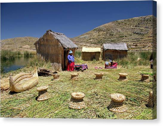 Bolivian Canvas Print - South America, Bolivia, Lake Titicaca by Kymri Wilt