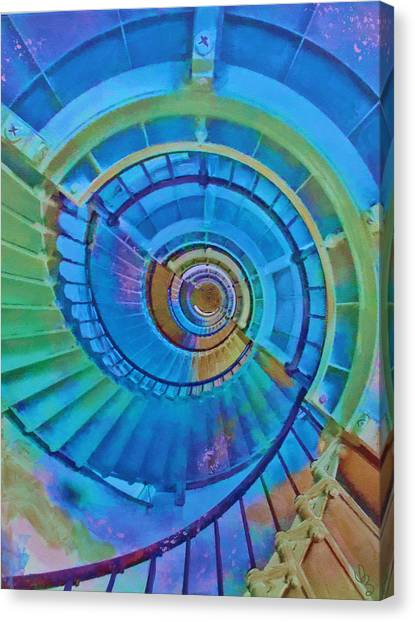 Stairway To Lighthouse Heaven Canvas Print