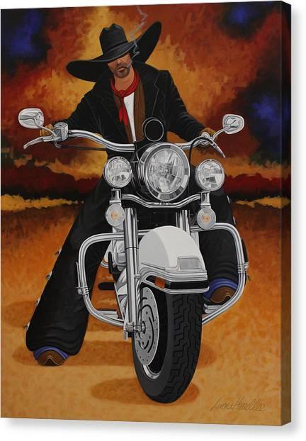 American Cowboy Canvas Print - Steel Pony by Lance Headlee