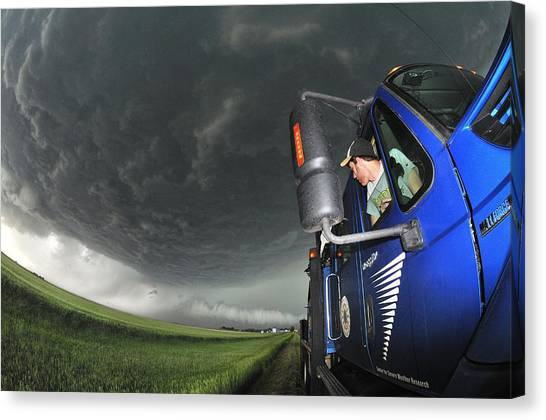Storm Chasing, Nebraska, Usa Canvas Print by Science Photo Library