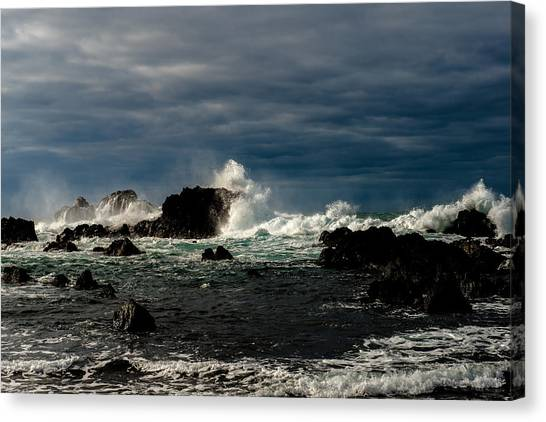 Stormy Seas And Skies  Canvas Print