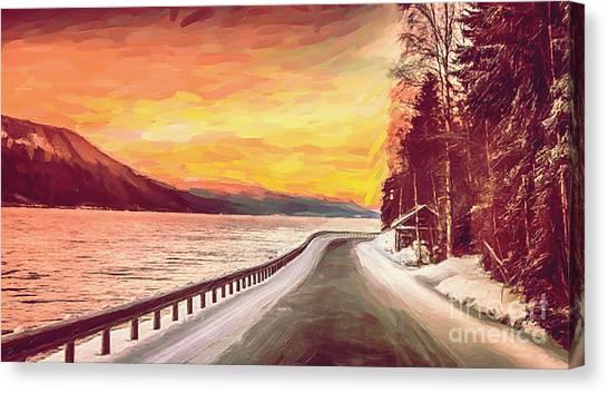 Sunset Canvas Print by Sylvia  Niklasson