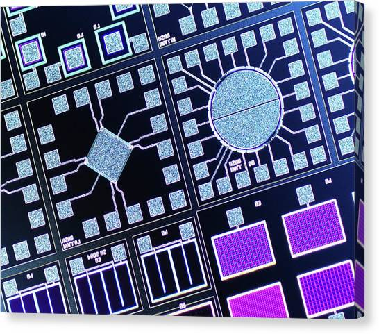 Wafer Canvas Print - Surface Of Microchip by Alfred Pasieka