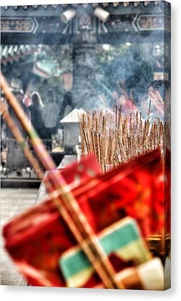 Hong Kong Canvas Print - Temple Incense by Lorelle Phoenix