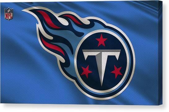 Tennessee Titans Canvas Print - Tennessee Titans Uniform by Joe Hamilton