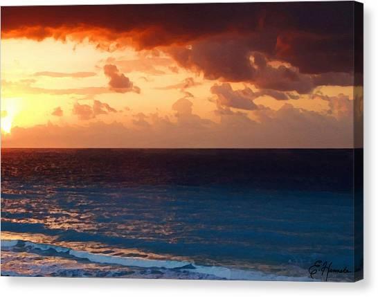 Tequila Sunrise Canvas Print - Tequila Sunrise by Ellen Henneke