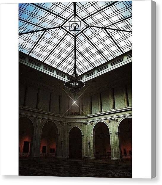 Geometric Canvas Print - The Brooklyn Museum's Beaux-arts Court by Natasha Marco