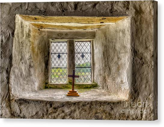 Panes Canvas Print - The Cross by Adrian Evans