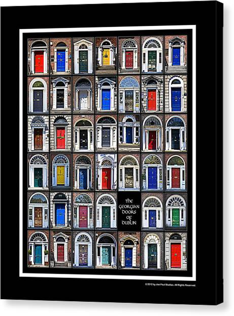 The Georgian Doors Of Dublin Canvas Print