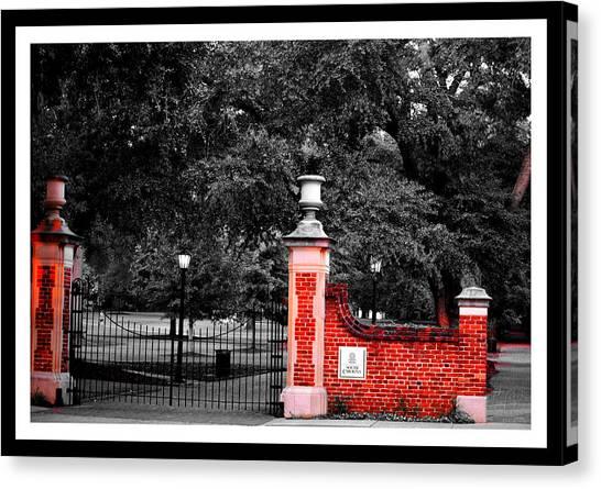 University Of South Carolina Canvas Print - The Horseshoe At University Of South Carolina by William Copeland