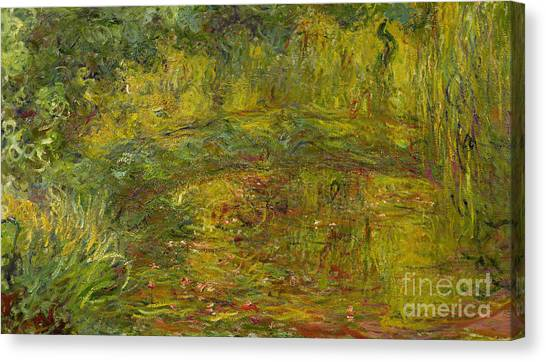 Weeping Willows Canvas Print - The Japanese Bridge by Claude Monet