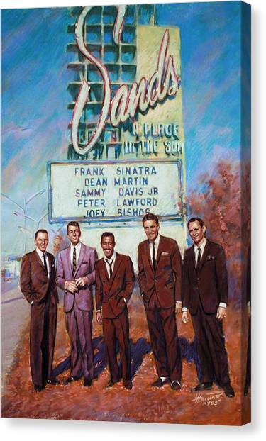 Frank Sinatra Canvas Print - The Rat Pack by Viola El