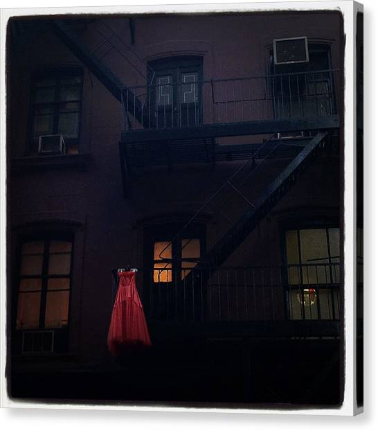 The Red Gown Canvas Print