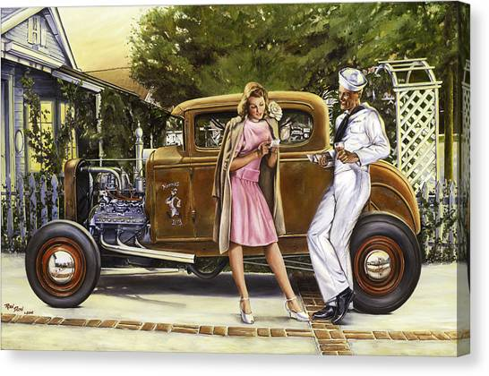 Vintage Canvas Print - The Sailor's Girl by Ruben Duran