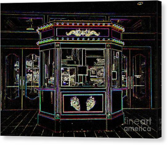 The Tivoli In Neon Canvas Print