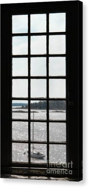 Panes Canvas Print - Through An Old Window by Olivier Le Queinec