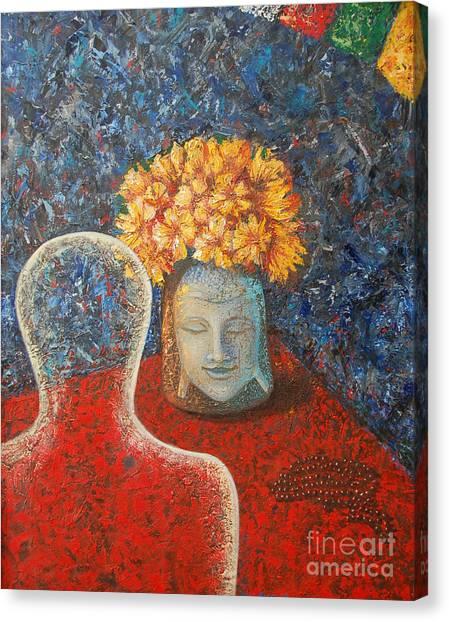 Tibetan Prayers Canvas Print