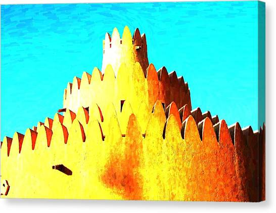 3 Tier Wedding Cake Canvas Print by Peter Waters