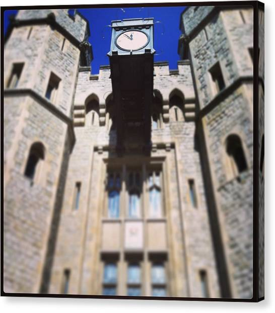 Parliament Canvas Print - Tower Of London  by David  Simmons
