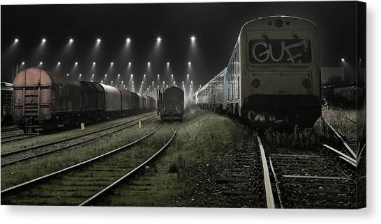 Light Rail Canvas Print - Trainsets by Leif L?ndal
