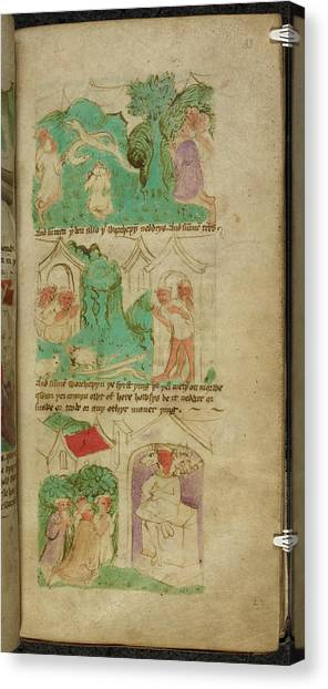 Mythological Creatures Canvas Print - Travels Of Sir John De Mandeville by British Library