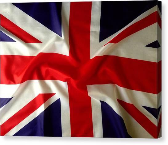 British Canvas Print - Union Jack by Les Cunliffe