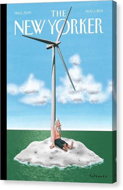Clean Energy Canvas Print - New Yorker August 1st, 2011 by Ian Falconer