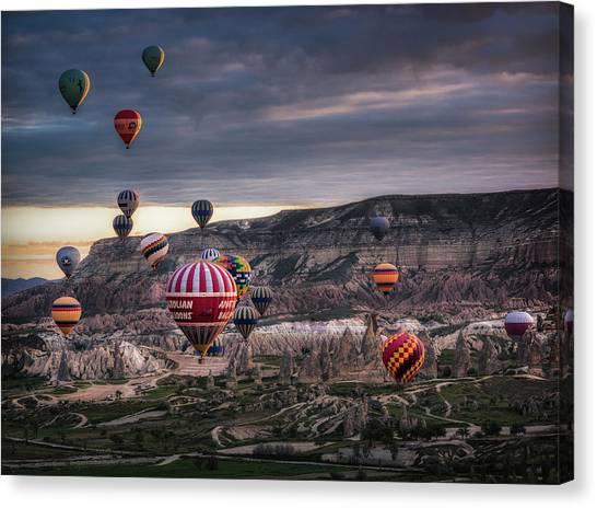 Hot Air Balloons Canvas Print - Untitled by Veselin Atanasov