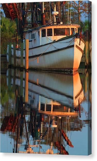 Shrimp Boats Canvas Print - Usa, Florida, Apalachicola, Shrimp Boat by Joanne Wells