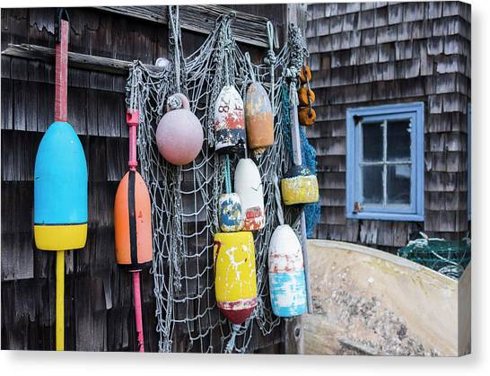 Rockport Canvas Print - Usa, Massachusetts, Cape Ann, Rockport by Walter Bibikow