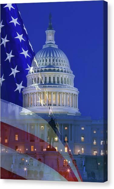 Capitol Building Canvas Print - Usa, Washington Dc by Jaynes Gallery