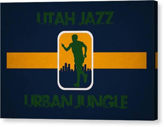 Utah Jazz Canvas Print - Utah Jazz by Joe Hamilton