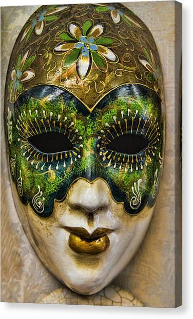 Mardi Gras Canvas Print - Venetian Carnaval Mask by David Smith