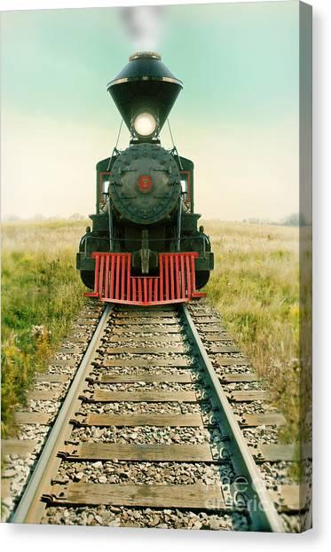 Vintage Train Engine Canvas Print