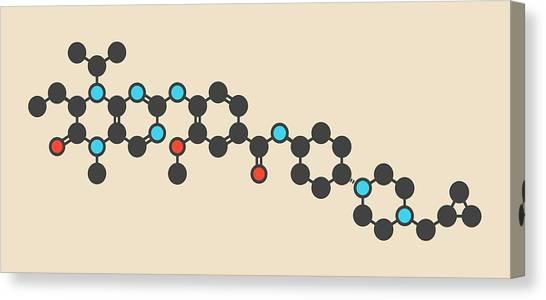 Polo Canvas Print - Volasertib Cancer Drug Molecule by Molekuul/science Photo Library