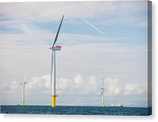 Clean Energy Canvas Print - Walney Offshore Windfarm by Ashley Cooper