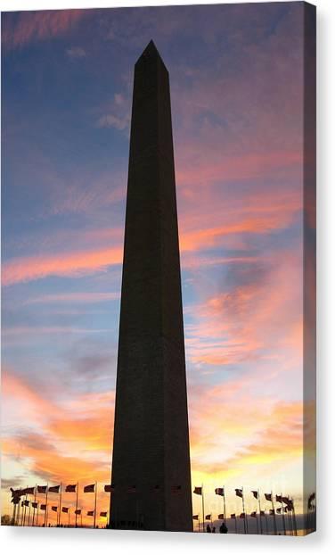 Washington D.c Canvas Print - Washington Monument by Olivier Le Queinec
