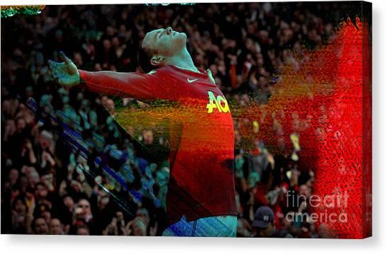 Wayne Rooney Canvas Print - Wayne Rooney by Marvin Blaine