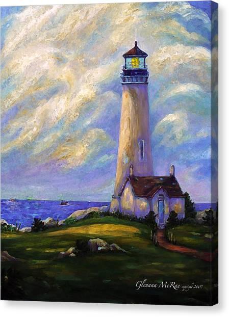 Yaquina Head Lighthouse Oregon Canvas Print