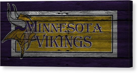 Minnesota Vikings Canvas Print - Minnesota Vikings by Joe Hamilton