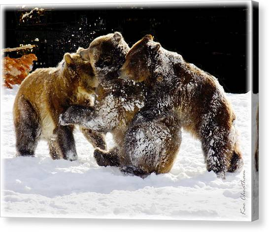 300 Pound Playmates Canvas Print