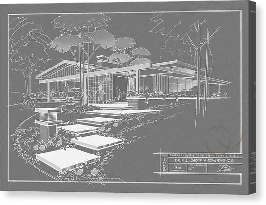 301 Cypress Drive - Charcoal Canvas Print