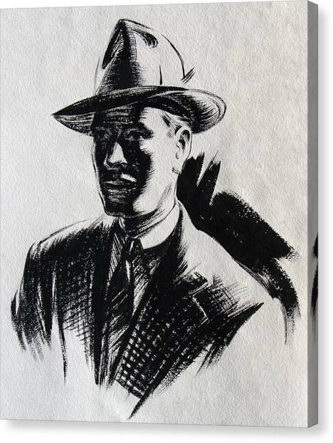 Secret Agent Study 2 Canvas Print