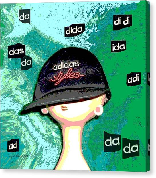 Dada Art Canvas Print - 305 - Adidas Bubbles by Irmgard Schoendorf Welch