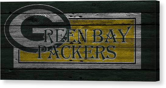 Green Bay Packers Canvas Print - Green Bay Packers by Joe Hamilton