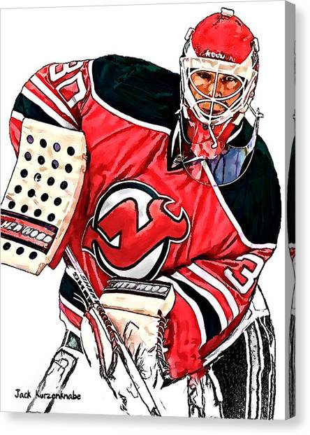 New Jersey Devils Canvas Print - 312 by Jack K