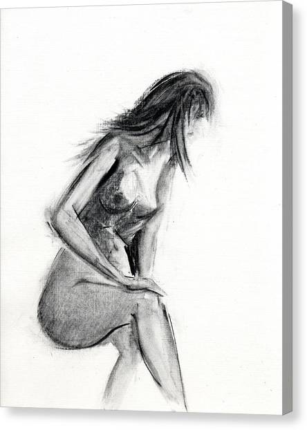 Nude Canvas Print - Rcnpaintings.com by Chris N Rohrbach