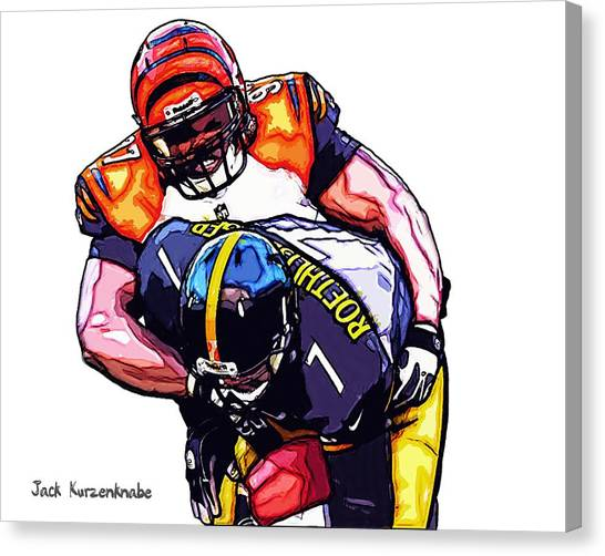 Ben Roethlisberger Canvas Print - 319 by Jack K